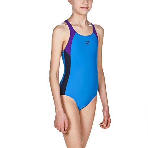 arena Mädchen Sport Ren Badeanzug, Pix Blue-Mirtilla-Navy, 164