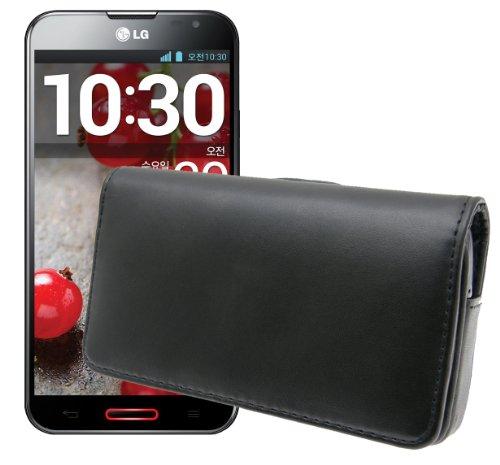 Exklusive Quertasche für / LG D686 G Pro Lite Dual SIM / Quer Tasche Handytasche Etui Case mit Clip und Sicherheitsschlaufe*