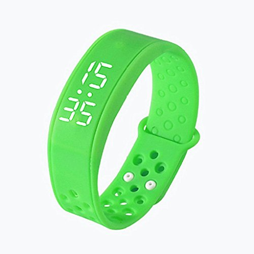 Fitness Activity Tracker,KEERADS Slim Smart Bracelet Watch with Pedometer Calories Track and Sleep Monitor for Kids (Green)
