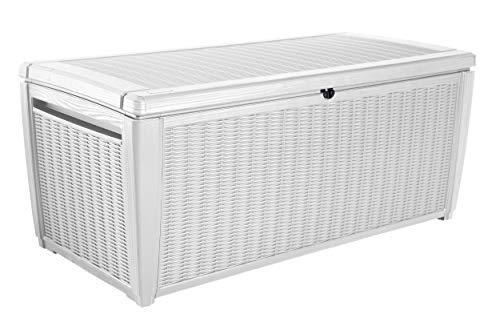 Keter -  Arcón exterior Pool Box XXL, Capacidad 511 litros, Color blanco