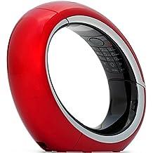 AEG Eclipse - Teléfono fijo analógico (inalámbrico, pantalla LCD), negro y rojo
