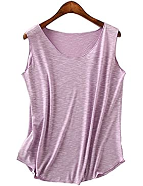 Leisial Camiseta Chaleco de Mujeres Sin Mangas con Algodón Estilo Occidental Sección Delgada Sueltas Blusas de...