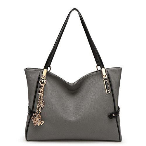 Transer Bag L rot 15 Ladies Bag Handbag Girls Leather Shoulder 9cm 24cm Damen W Women Schultertasche grau H Popular Hand gE7rgqx