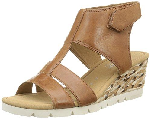 Gabor Shoes 42.843 Damen Knöchelriemchen Sandalen, Braun (54 peanut), 38 EU