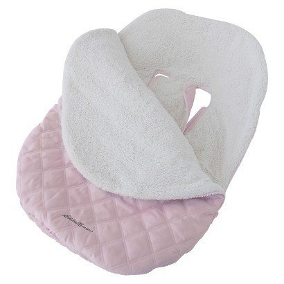 Eddie Bauer Pink Baby Bundle Blanket for Car Seat or Stroller