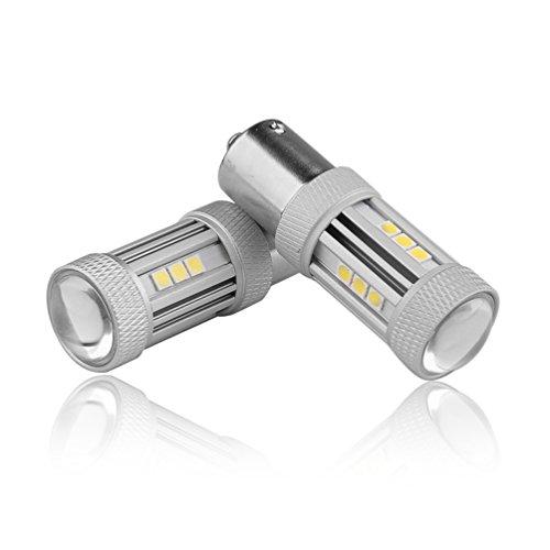 Preisvergleich Produktbild E-SUNPIE 2x 1156 führte Autolampen 80w canbus DRL weiß Bremse DRL Stop Rücklicht Scheinwerfer Lampe für Auto LED (1156 180° Ba15s new design)