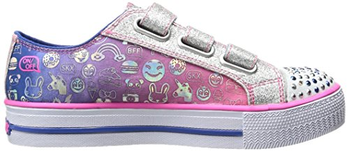 Skechers Step Up, Sneakers Basses Fille Bleu (Blnp)