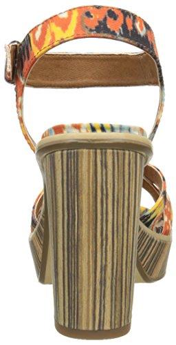Tamaris - 28333, Sandali con platea Donna Multicolore (Mehrfarbig (BOHO PRINT 955))