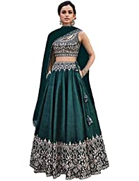 52e375400 Amazon.in  Greens - Lehenga Cholis   Ethnic Wear  Clothing   Accessories