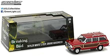 Greenlight Collectibles Jeep Wagoneer Skylar White Breaking Bad 2004 Véhicule Miniature, 86499, Bordeaux, Echelle 1/43 | D'ornement