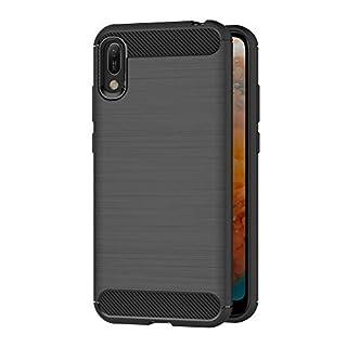 AICEK Compatible Huawei Y6 Pro 2019 Hülle, Schwarz Silikon Handyhülle für Huawei Y6 Pro 2019 Schutzhülle Karbon Optik Soft Case (6,09 Zoll)