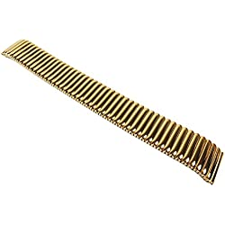Flex Ribbon Replacement Watch Strap Stainless Steel Band Yellow Gold MINOTT 22852G, Bar Width: 14mm