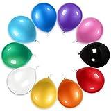 TOSOAR 100 Partyballon Farbige Ballons 30cm Bunte Partyballon für Halloween Weihnachten Geburtstagsfeiern Party Hochzeitsfeiern (Sortierte Farben Ballon)