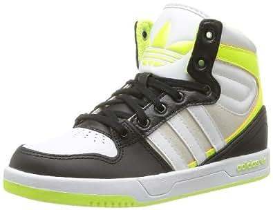 adidas Originals Court Attitude K-6 D67696, Unisex - Kinder Sneaker, Schwarz (BLACK 1/RUNNING WHITE FTW/ELECTRICITY), EU 40