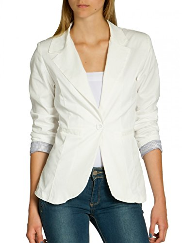 Caspar BZR003 Blazer de Verano para Mujer con Mangas 3/4 Slim Fit, Talla:XL - DE42 UK14 IT46 ES44 US12...