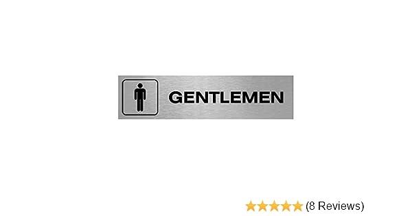 Made in the UK /… Various Sizes /& Designs Available Slimline Aluminium Ladies Gentlemen Symbol Toilet Signs 200x50mm Gentlemen