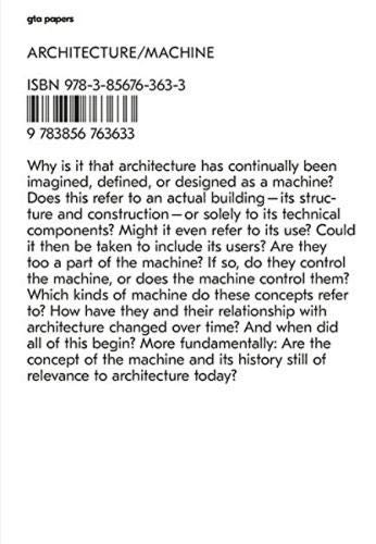 Architecture / Machine: Programs, Processes, and Performances (GTA Papers)