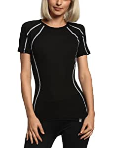 The North Face - Maglietta leggera baselayer a girocollo, da donna, nero (Nero a maniche corte), S