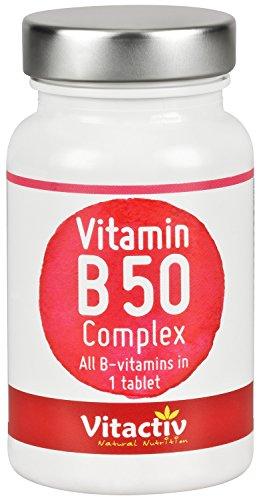Vitamin B50 Complex Time Released - Alle B-Vitamine hochdosiert in 1 Tablette (60 Tabl.)