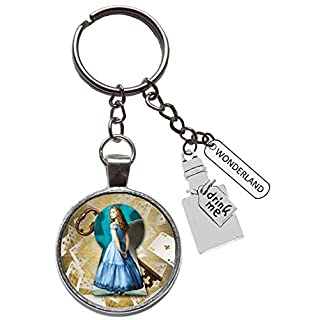 Alice in Wonderland Through The Looking Glass aiw Figure Keyring Drink me Bottle