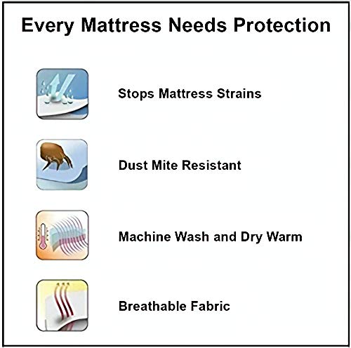 Terry Cotton King Size Double Bed Mattress Protector 100% Waterproof Dust Proof Mattress Protector Double Bed King Size Bed Cover (72 x 72 Inches) Image 9