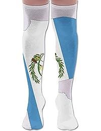 zengjiansm Calcetines Altos Men Women Guatemala Map Flag Knee High Casual Sock Gift Unisex Breathable