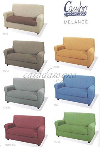 CAMBIO MELANGE COPRIDIVANO per divano a 2 POSTI colore BLU