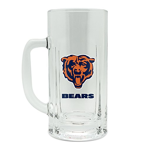 Duck House NFL Chicago Bears Robuste Tasse aus Glas, 570 ml (Chicago Bears Tassen)
