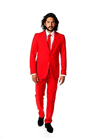 Opposuits Herren OSUI-0014 - Devil Party Kostüm, Rot,Größe 48 (Frauen Red Devil Kostüm)