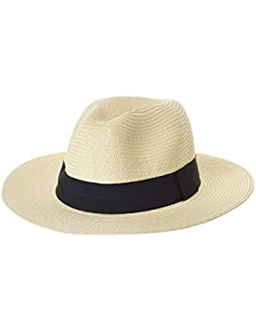 WITHMOONS Sombrero Panamá Fedora Panama Hat Black Banded Wide Brim Cool Summer SL6690