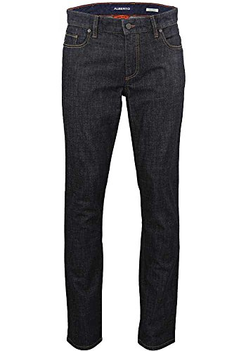 Alberto Herren Jeans Pipe Authentic Denim Navy, Größe:W36/L36;Farbe:navy