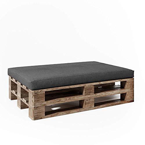 Vicco Palettenkissen Sitzkissen Palettenmöbel Anthrazit Auflage (Sitzkissen 120x80, Anthrazit)