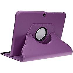 doupi Rotatif Housse pour Samsung Galaxy Tab S2 (9,7 Pouces), Deluxe 360 Degrés Smart Coque de Protection Simili Cuir Coque Cover et Case, Violet