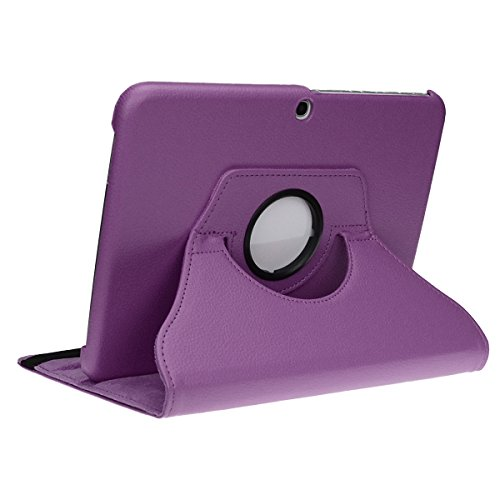 doupi Deluxe Schutzhülle Samsung Galaxy Tab S2 (9,7 Zoll Smart Case Sleep/Wake Funktion 360 Grad drehbar Schutz Hülle Ständer Cover Tasche, - Case S2 Lila