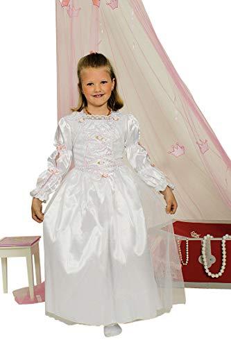 K31250384-98-104-A weiß Kinder Dornröschen Kleid Märchen Kostüm (Dornröschen Prinz Kostüm)