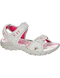 Ladies Womens PDQ Pink Grey Adventure Trail Walking Velcro Sports Sandals Sizes 4 5 6 7 8