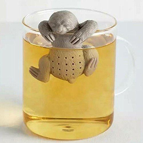 sunwords Cute Tee blättersieb Filter Silikon Herbal Spice Diffusor Faultier Tee-Ei