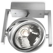Philips myLiving Fast - Plafón, iluminación interior, 1 bombilla de 60 W, 220 V, G9, color gris