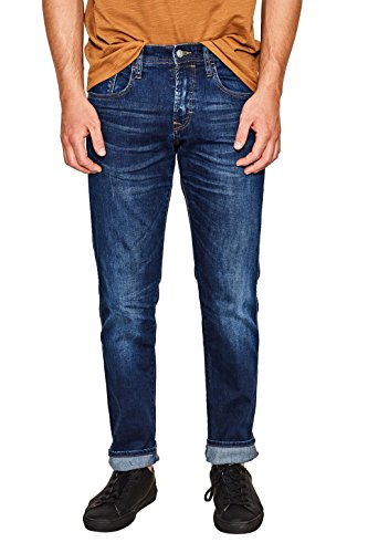 edc by ESPRIT Herren Slim Jeans 087CC2B004, Blau (Blue Dark Wash 901), W33/L32