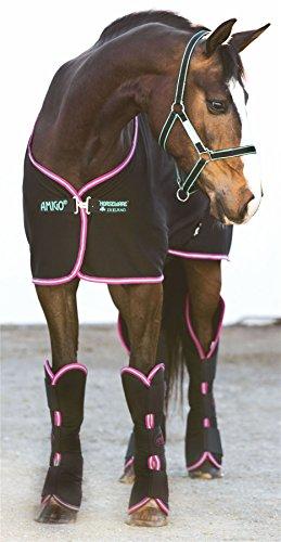 Horseware Amigo Jersey Cooler - Black/Purple & mint, Groesse:130