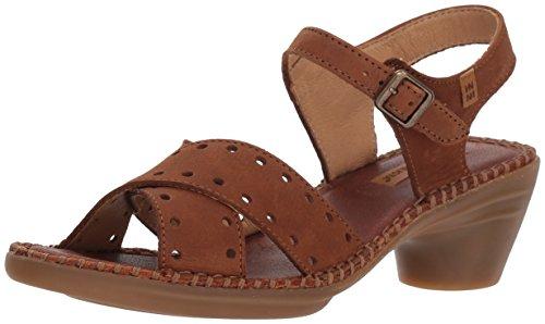 El Naturalista Women's N5325 Pleasant Aqua Heeled Sandal, Wood, 41 Medium EU (10 US)