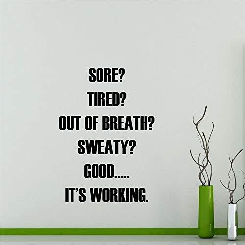 er Wandaufkleber,Gym Wandaufkleber, Home Sport Motivation Gym Poster Interieur Kunst Dekor Zitat Inspirierende Worte Workout Removable 43x60cm ()