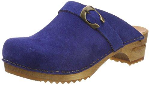 Sanita Damen Hedi Open Clogs, Blau (Electric Blue), 38 EU