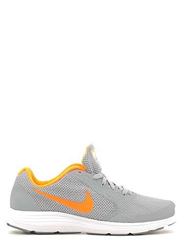 Nike Revolution 3 (GS), Chaussures de Running Homme, Noir (Black (Stealth/Total Orange Blanc), 38 EU