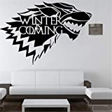 Casa Stark of Winterfell Badge Direwolf Pegatinas de pared Decoración para el hogar Juego de...