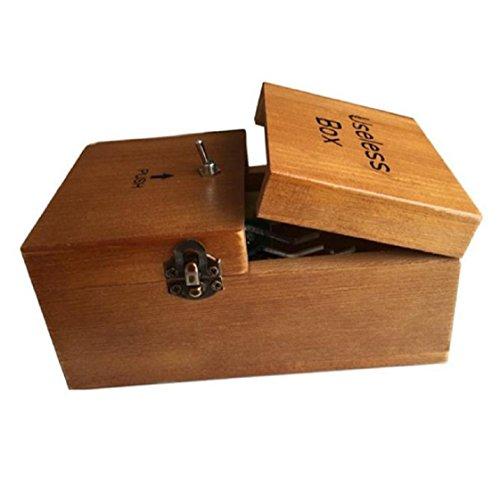 Preisvergleich Produktbild Vovotrade Schaltet sich selbst aus Useless Box Leave Me Alone-Maschine voll in Echtholz Assembled