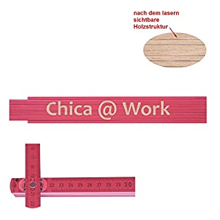 Zollstock pink Chica at work