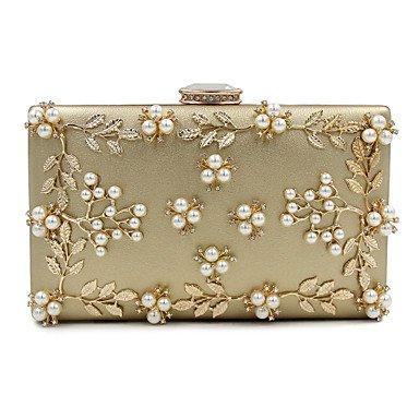 Frauen elegante Hochwertige Luxus Diamanten Perlen Abendtasche Gold