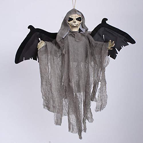 Sound Control Skelett hängende Ghost Creepy Grey Black -