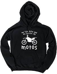 HippoWarehouse Me Han Dicho Que Me Gusta Las Motos jersey sudadera con capucha suéter derportiva unisex